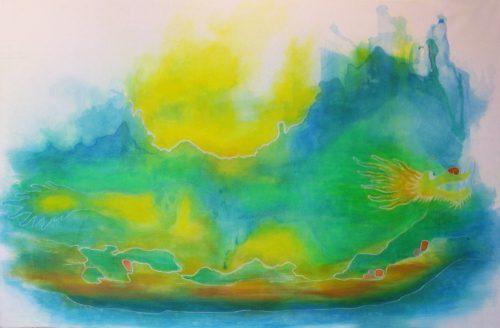 Drachenboot Boot Drachen Sonne Meer Esoterik Aufbruch Vorwärts