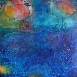 Enten Bach Teich Gänse Wasser Wasservögel blau