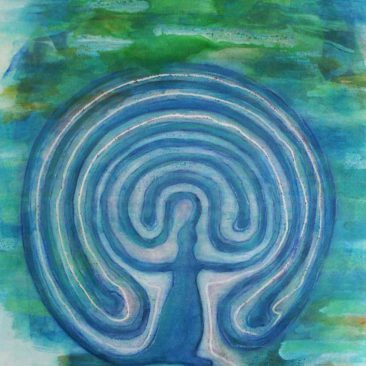 Labyrinth Frauen Irrgarten Esoterik