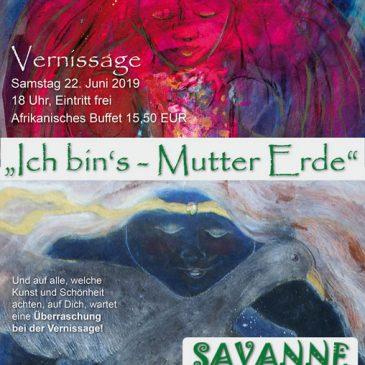 Ausstellung im Kulturrestaurant SAVANNE